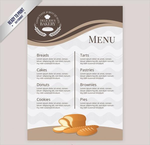 Free Bakery Menu Template Download