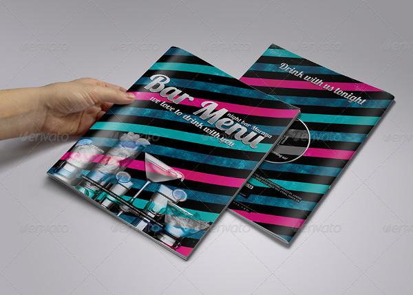Print Ready Bar Menu Design Template