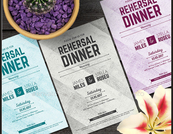 Elegant Dinner Event Invitation Template