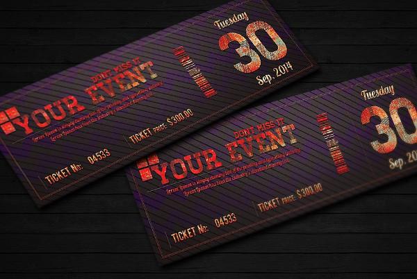 Elegant Event Ticket Invitation