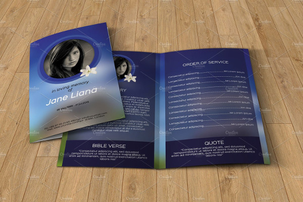 Elegant Funeral Event Program Brochure