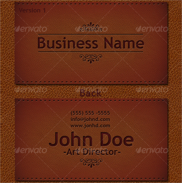 21 Leather Business Card Templates Psd Ai Eps Format Download