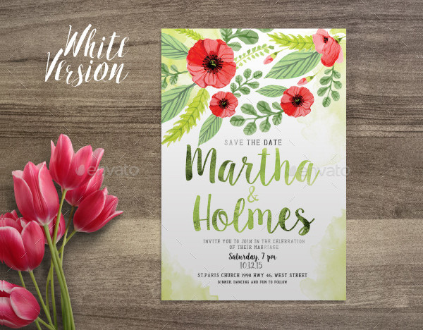 Elegant Watercolor Postcard Invitation