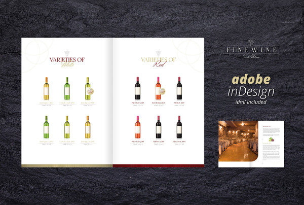 Unique Wine Brochure Template