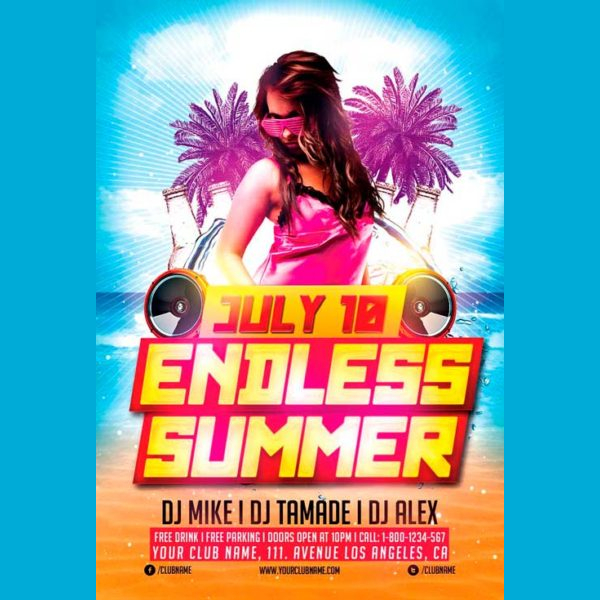 Endless Summer Night Free PSD Flyer Template