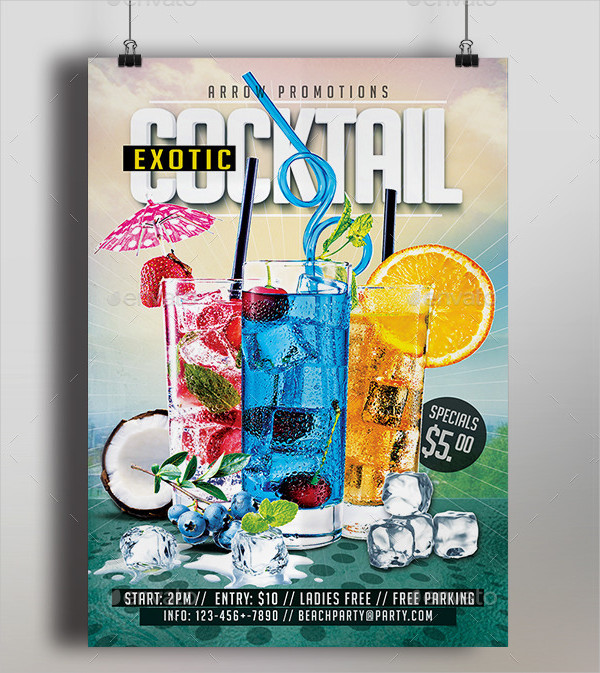 Exotic Cocktail Flyer Template