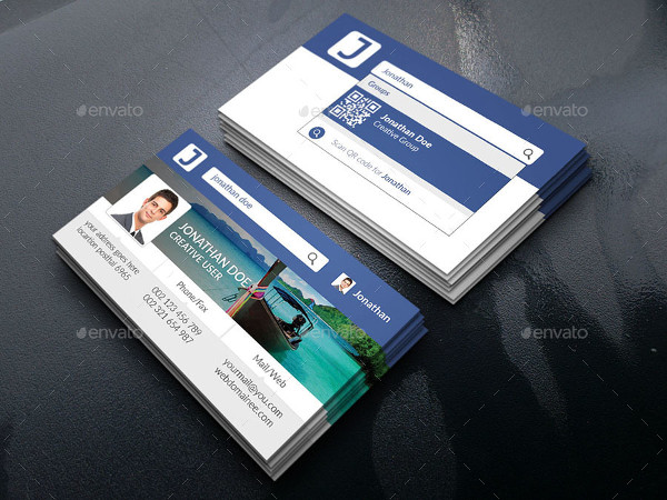 Facebook Dynamic Style Business Card