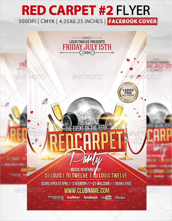 Perfect Flyer Template for Red Carpet Party