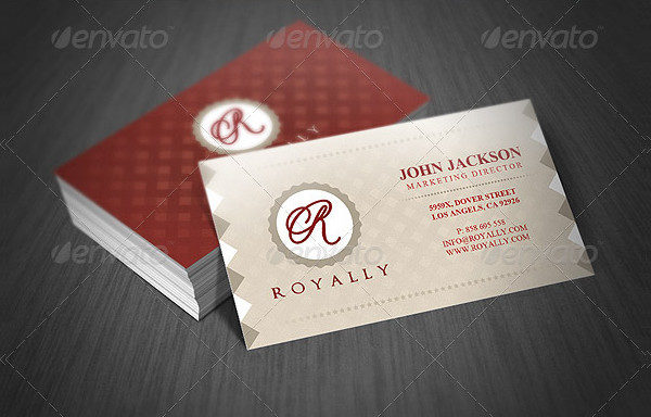 Fancy Retro Business Card Template