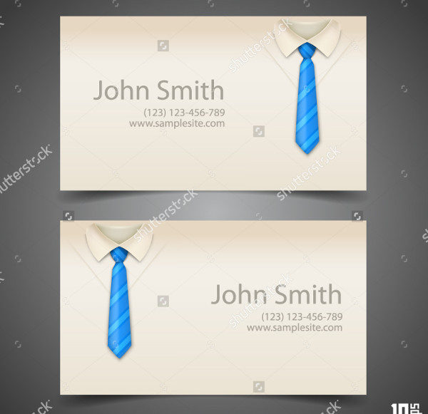 Shirt & Tie Fancy Business Card