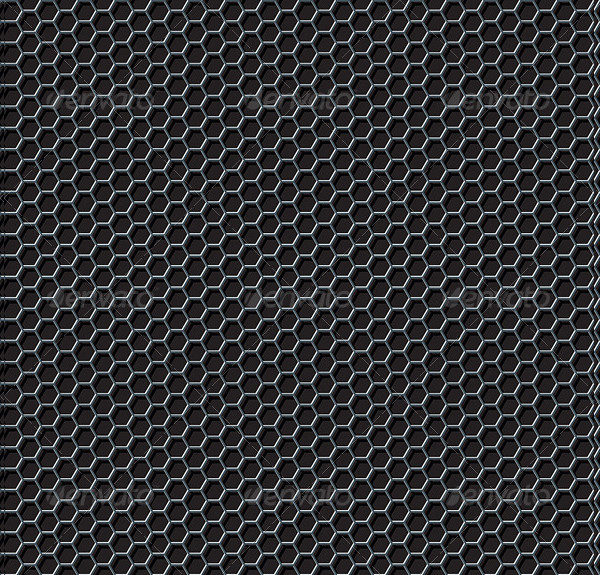 Hexagon Grid Seamless Pattern