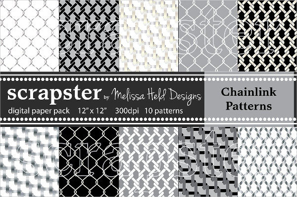 Collection of Chain Link Patterns