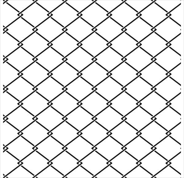 Fence Steel Netting Seamless Pattern