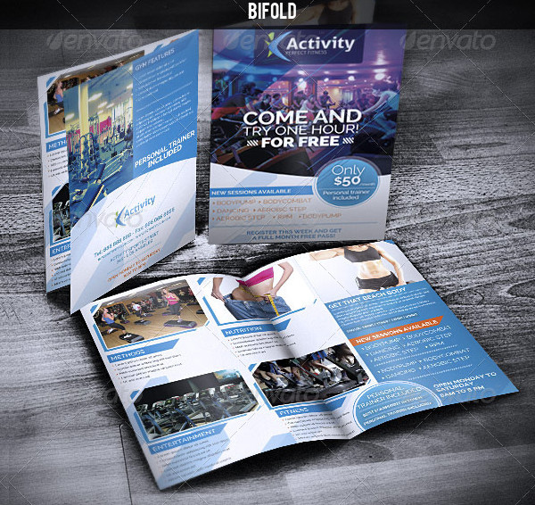 Fitness & Gym - Sports Bifold Brochure
