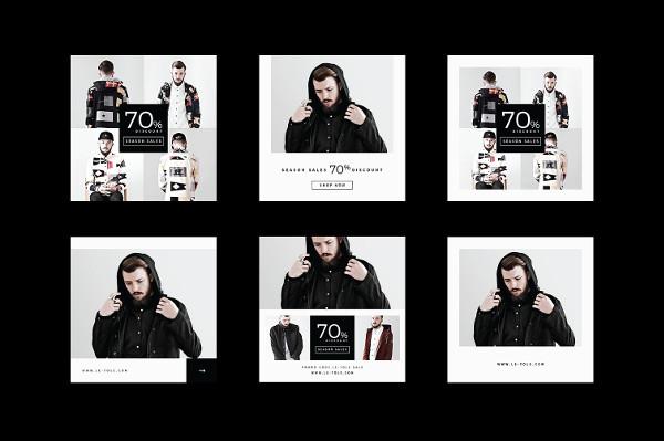Flat Design Instagram Promotion Banner