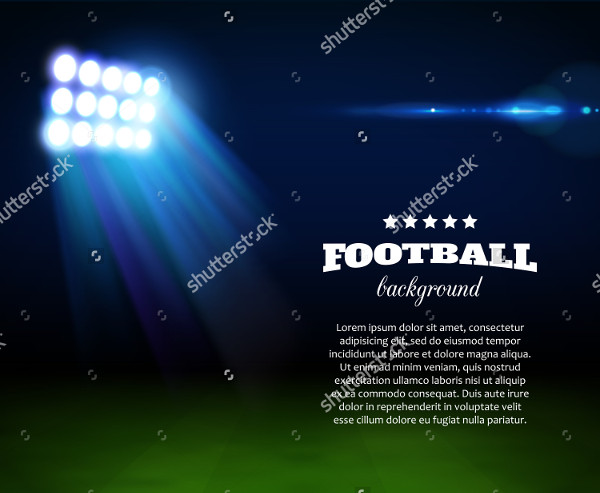 Football Background Green Field Spotlight