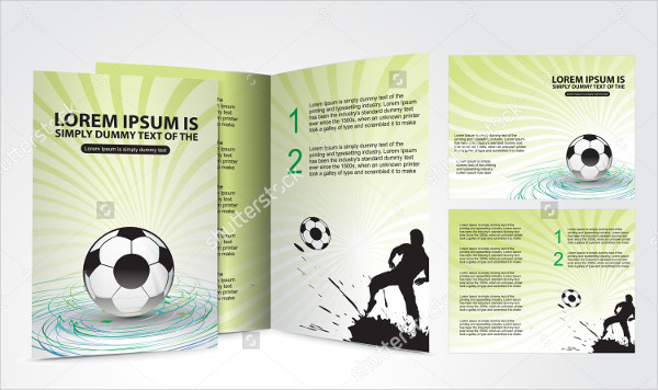 Football Brochure Design Champion Cup