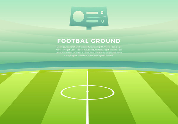 Football Ground Cartoon Background Free