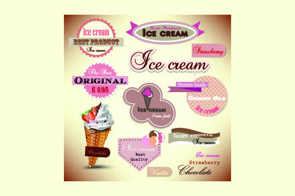 Frame Ice Cream Menu Template