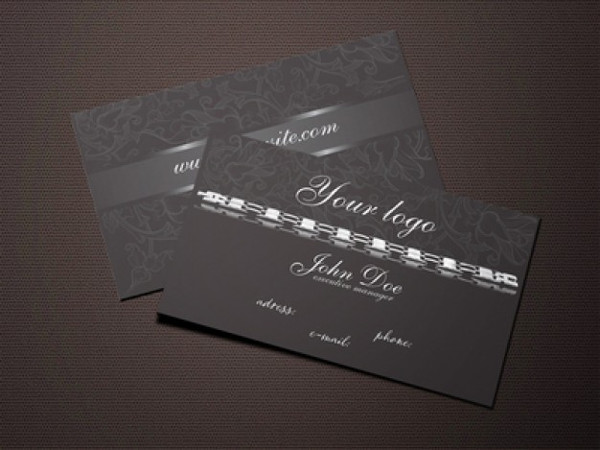 Free Black Jewelry Business Cards