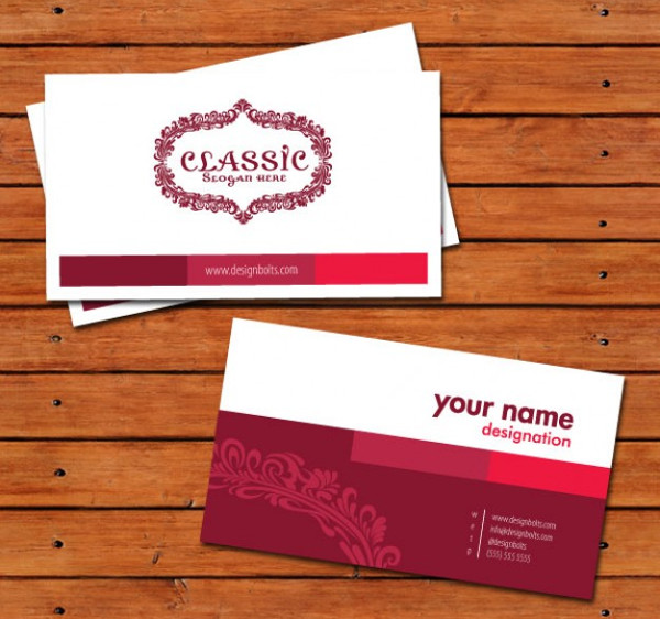 Free Classic Business Cards Design