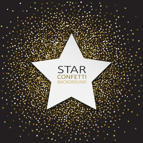 Free Decorative Background with Stars