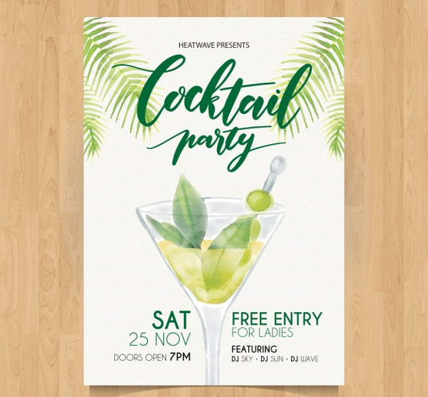 Free Exotic Cocktail Party Flyer