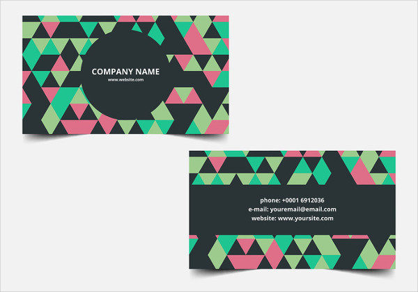 Free Vector Fancy Business Card Design