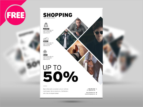 Free Fashion and Shopping Promotional Flyer Template