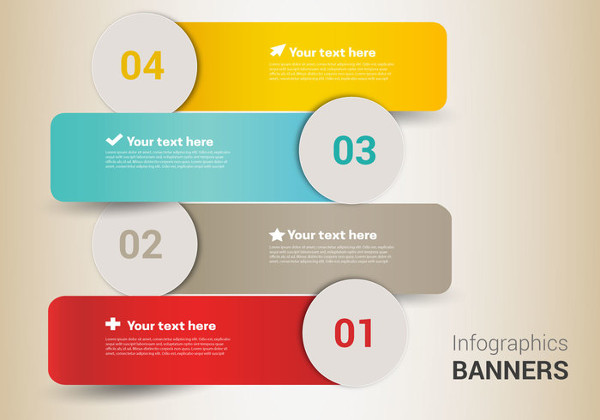 Free Infographic Design Banners Vector