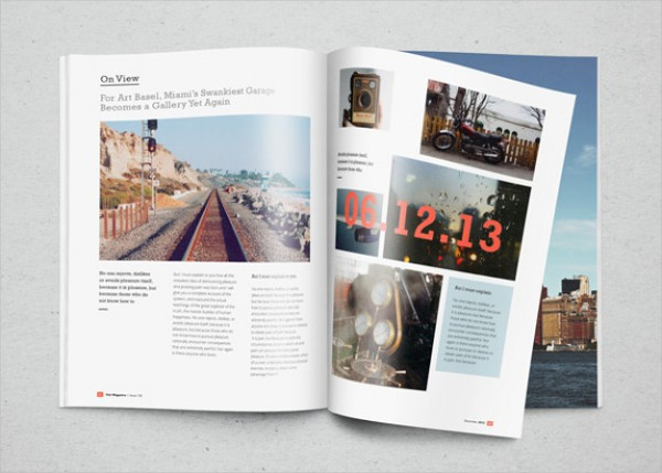 Free PSD Magazine with Photos