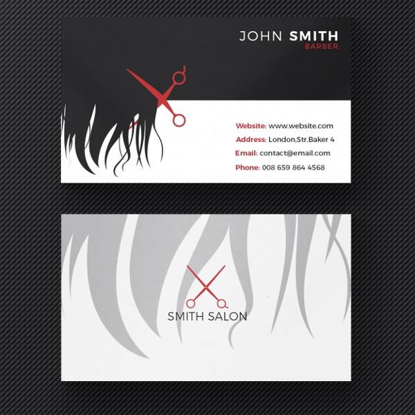 Free PSD VintageHair Salon Business Card