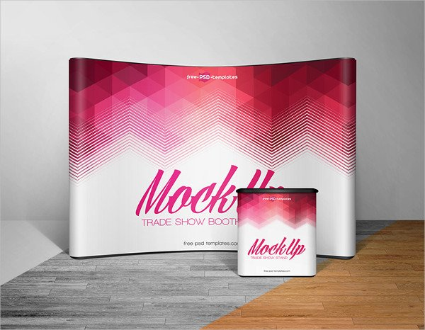 Free Trade Show Booth Mockup in PSD