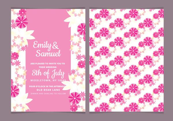 Free Watercolor Floral Invitation