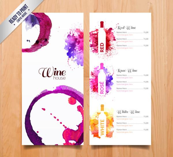 Free Wine House Menu Template