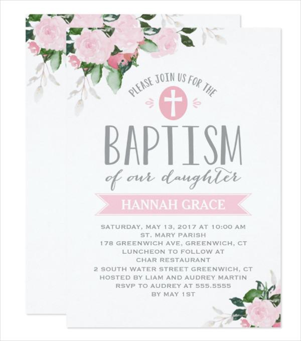 29 baptism invitations free premium download