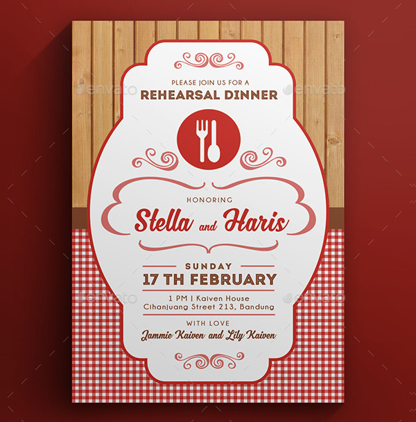 Fully Editable Dinner or Lunch Invitation Template