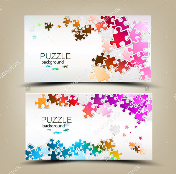 Business Cards with Puzzle Pieces