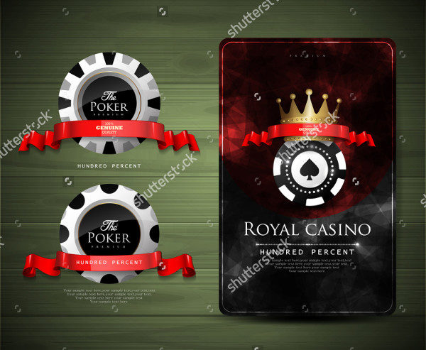 Vintage Style Casino Game Business Card Template