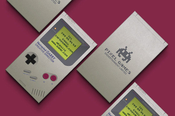 Gameboy Business Card Template