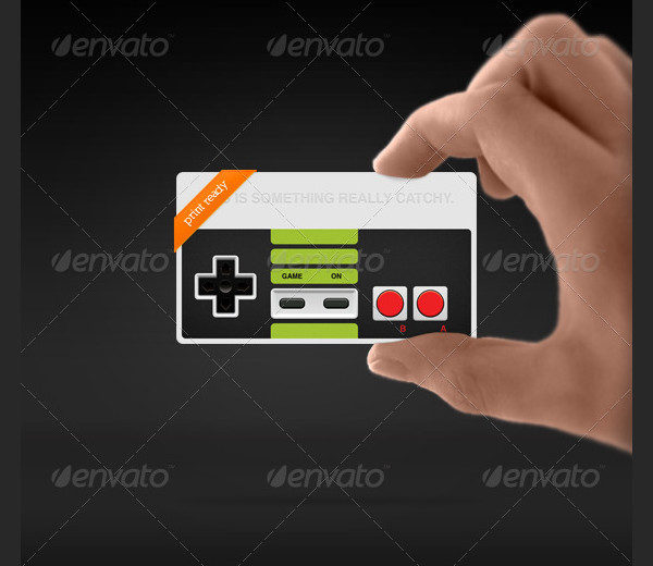 Popular Business Card for Video Games