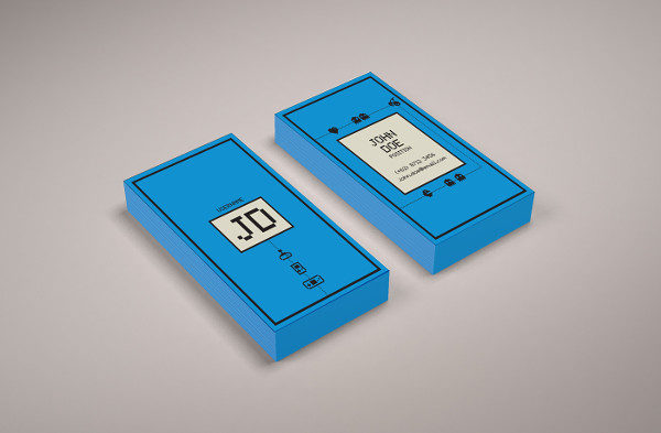 Business Card Inspired by Game Console