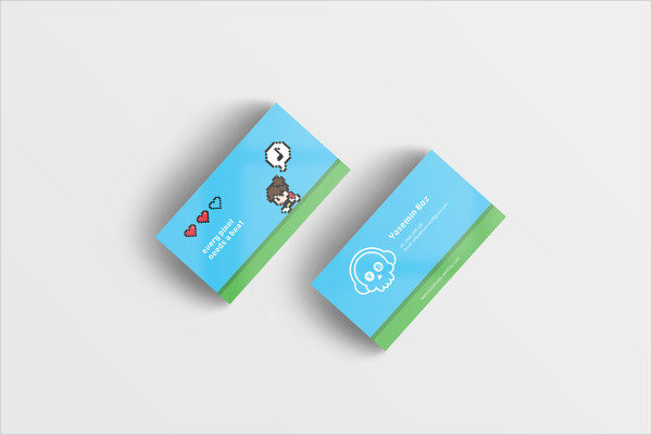Business Card Template for Video Games