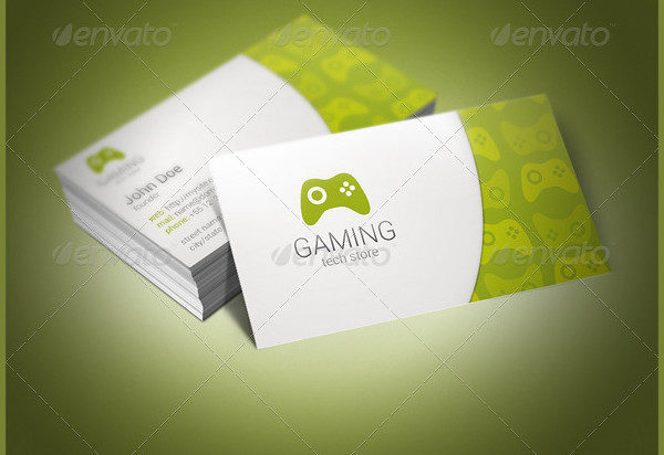 Unique Gaming Business Card Template