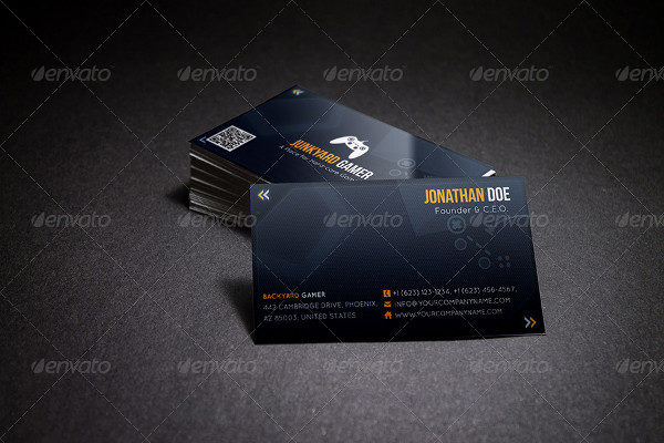 Gaming Themed Business Card
