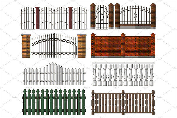 Set of Gates & Fences Patterns