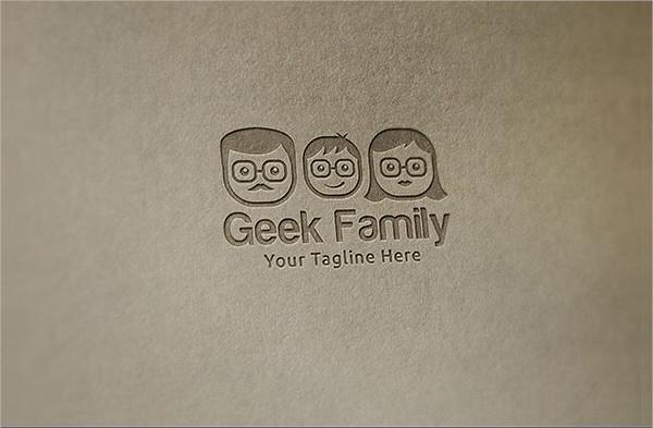 Geek Family Logo Template