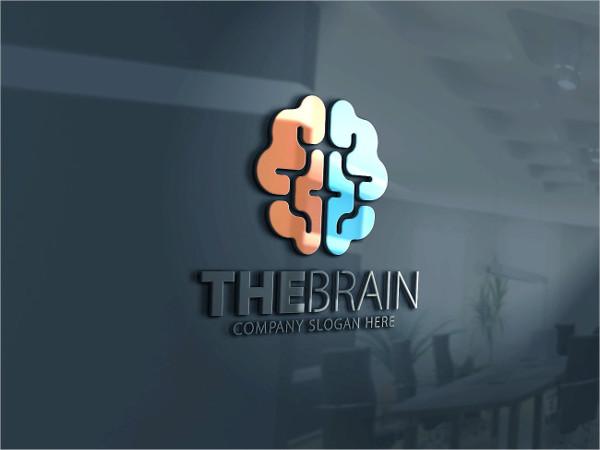 Genius Brain Logo Template