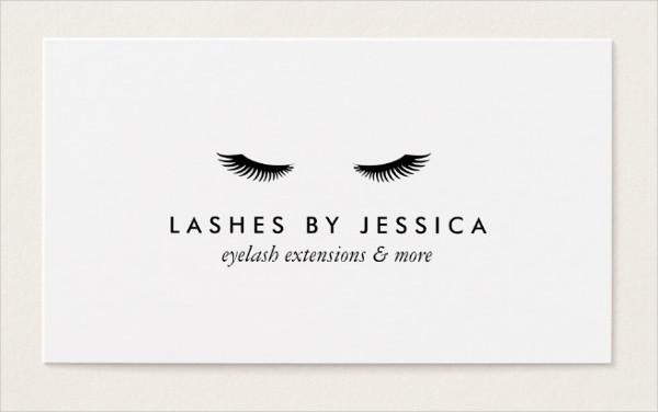 Glam Eyelashes Classic White Business Card