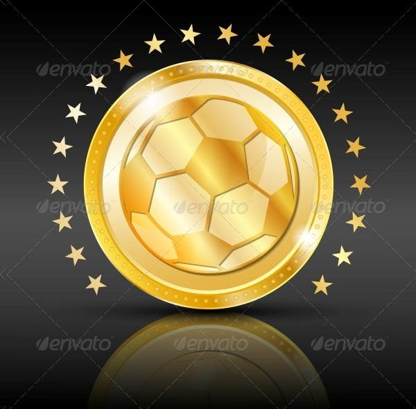 Gold Football Coin Sport Background
